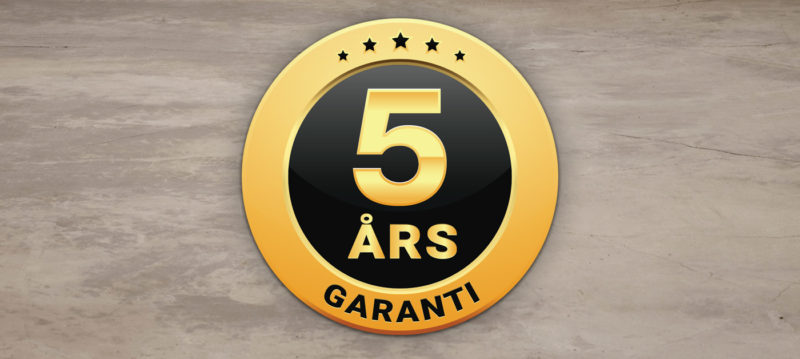 5 års garanti på vinkylar